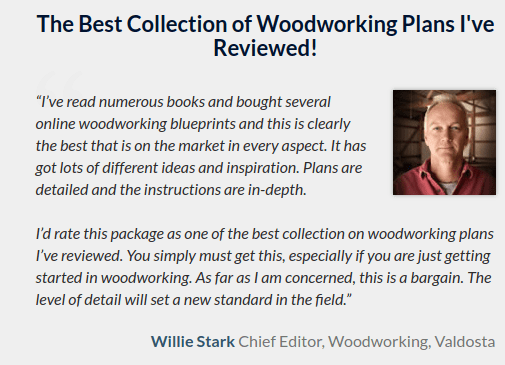Teds Woodworking testimonial