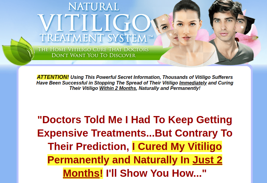 Natural Vitiligo Treatment System Book